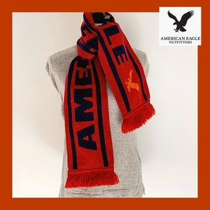 AEO Red Knit Winter Scarf